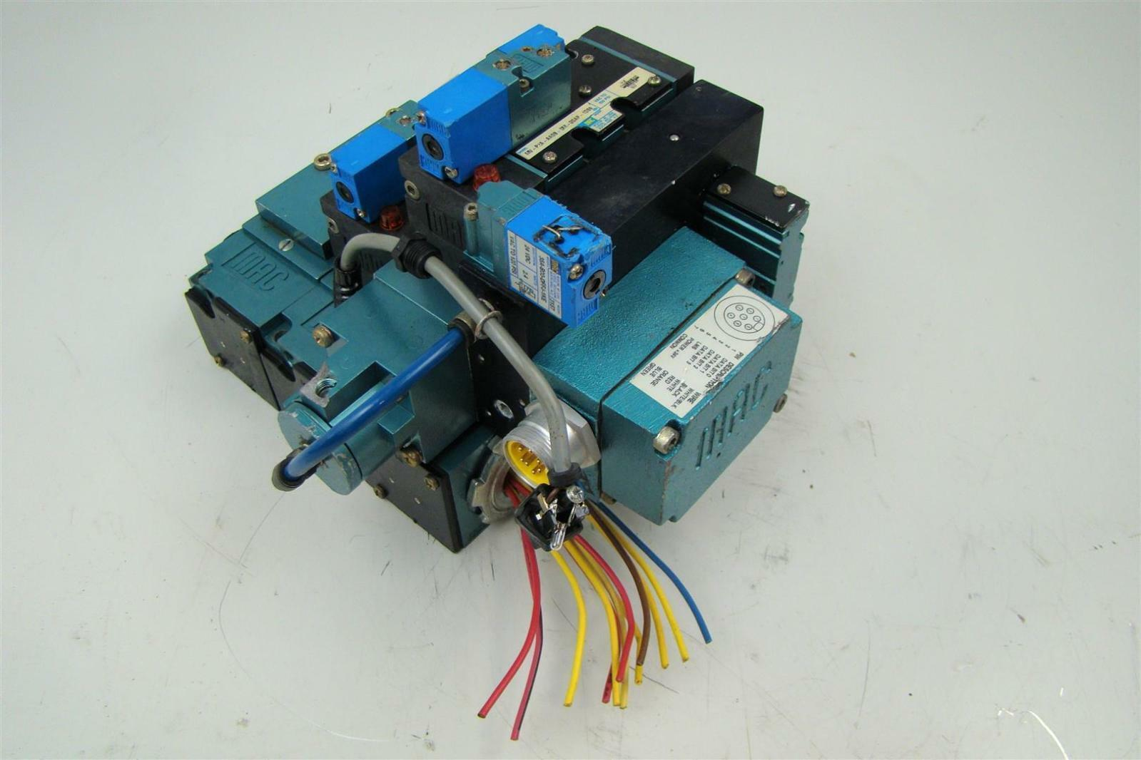 Mac Pneumatic Solenoid 3 Valve Block Bank Mv P2a Abda Ebay Wiring
