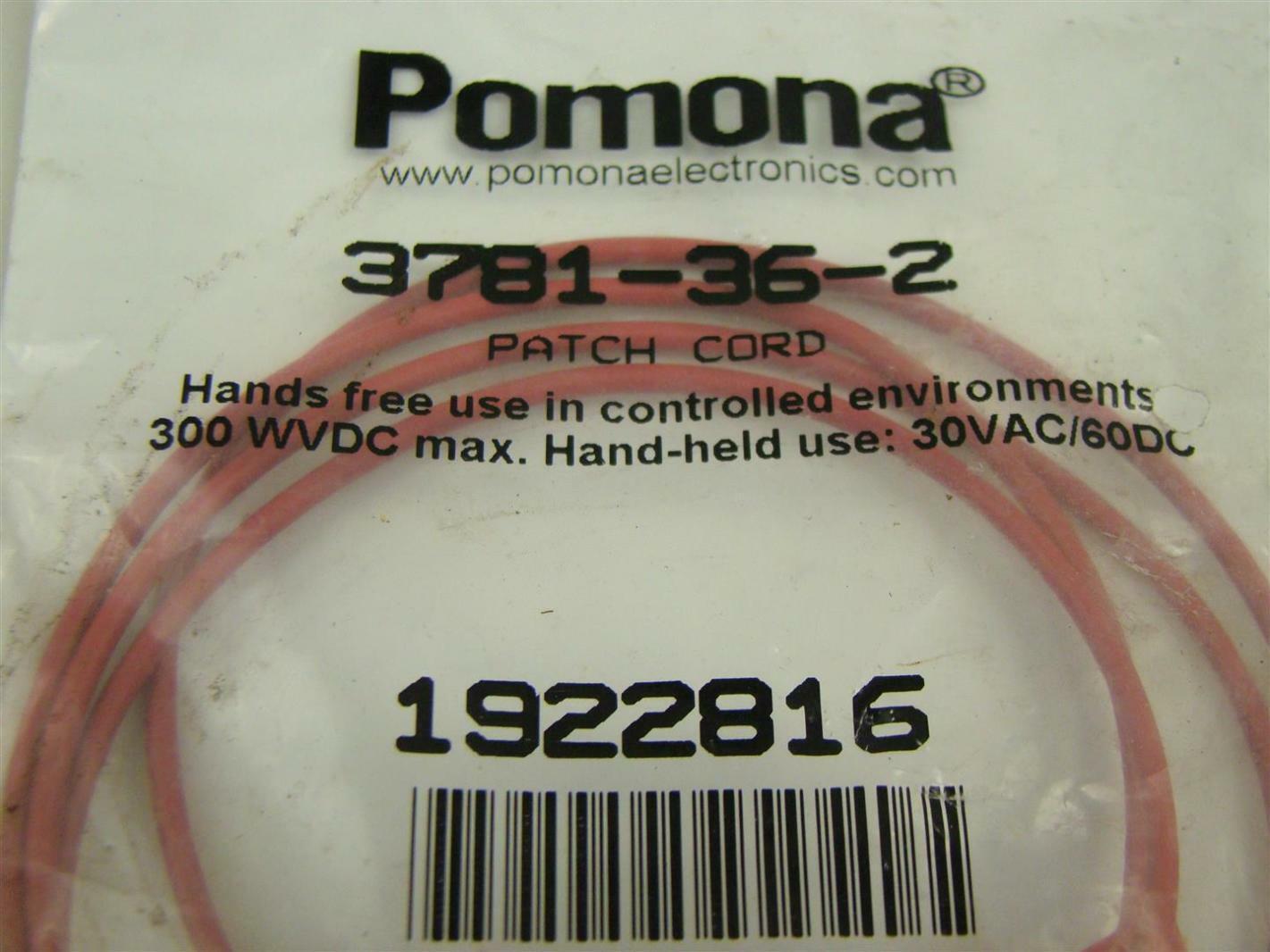 Pomona Patch Cord 3781-36-2