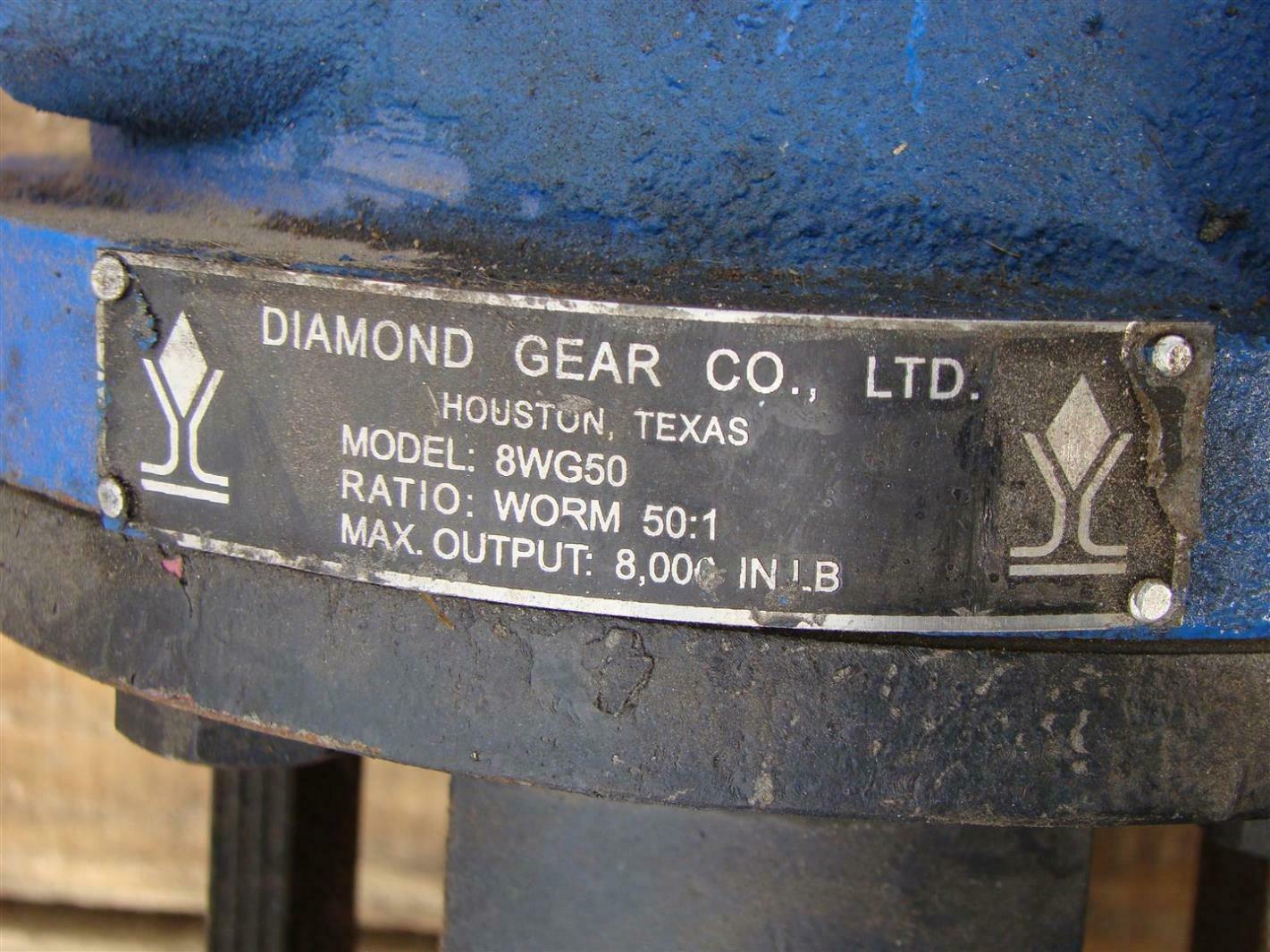Forum PBV Size 4 150 Class Ball Valve with Diamond Gear 8WG50 Worm 50:1