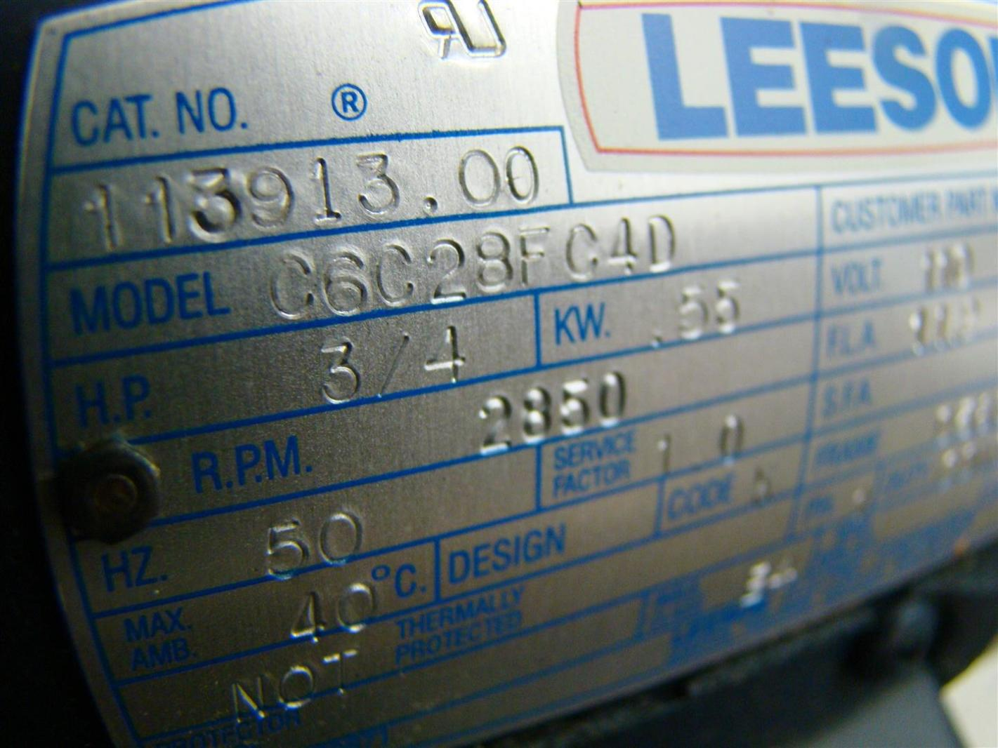 Leeson 3 4hp Energy Saving Motor 110 220v Single Phase C6c28fc4d Wiring A For Website