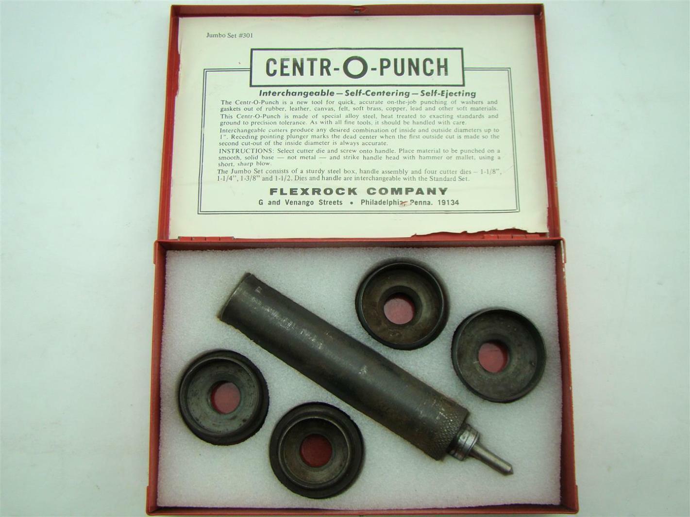Centr-O-Punch set #301 Flexrock Co