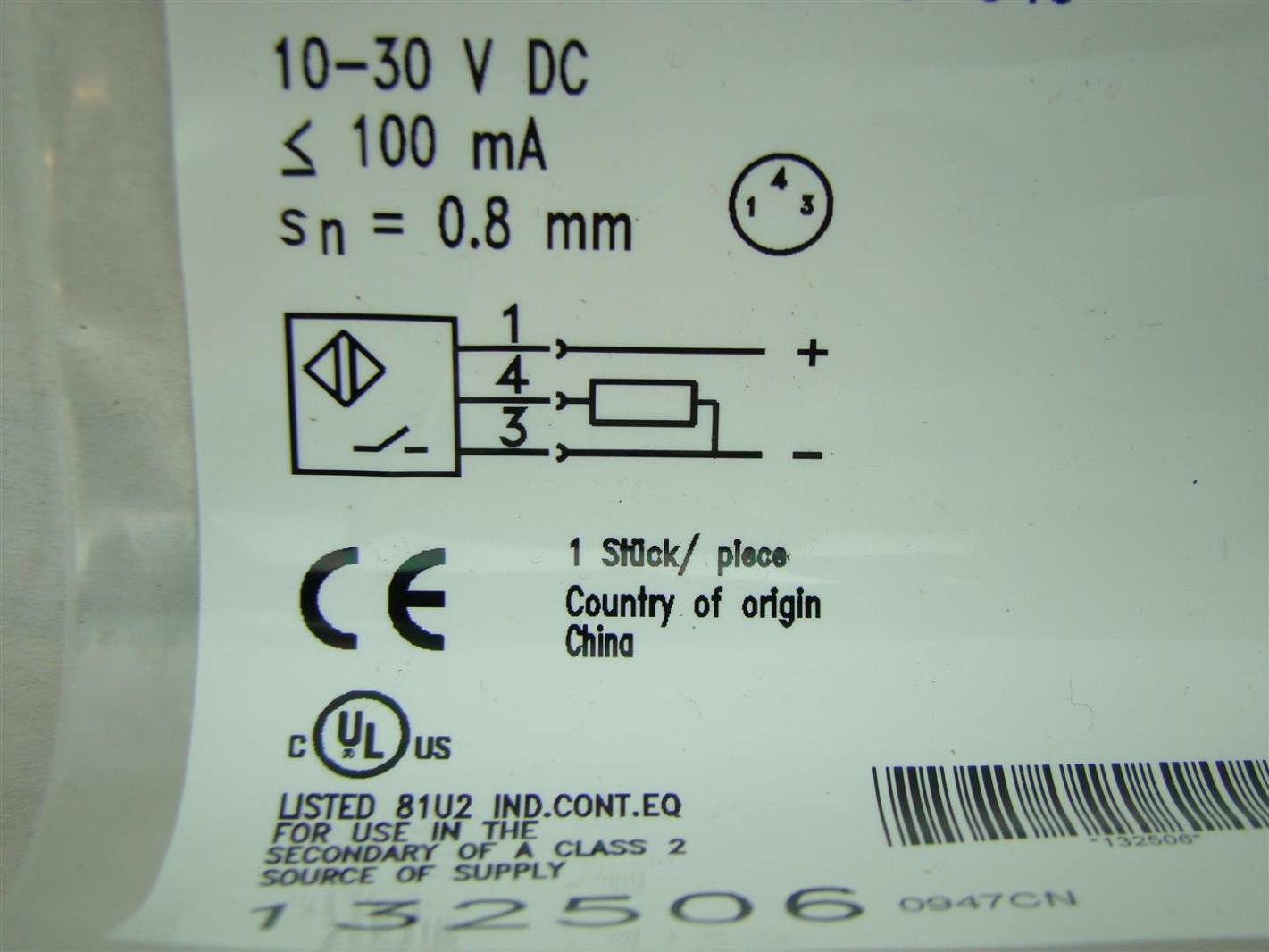 Balluff Inductive Sensor 10-30V BES00J5   Joseph Fazzio, Incorporated