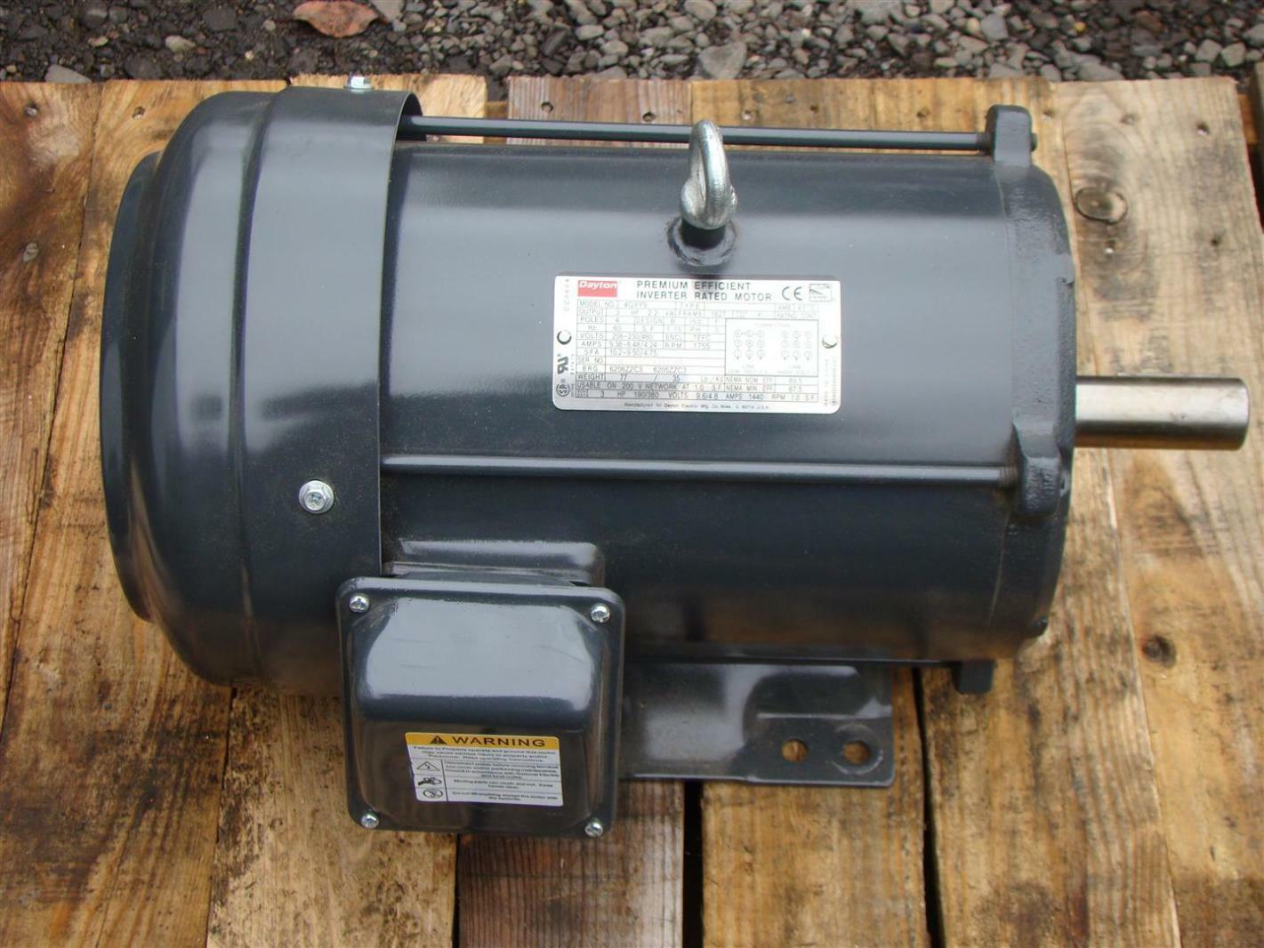 Dayton 3HP Inverter Duty Motor 208-230/460V 1755RPM 4GYY