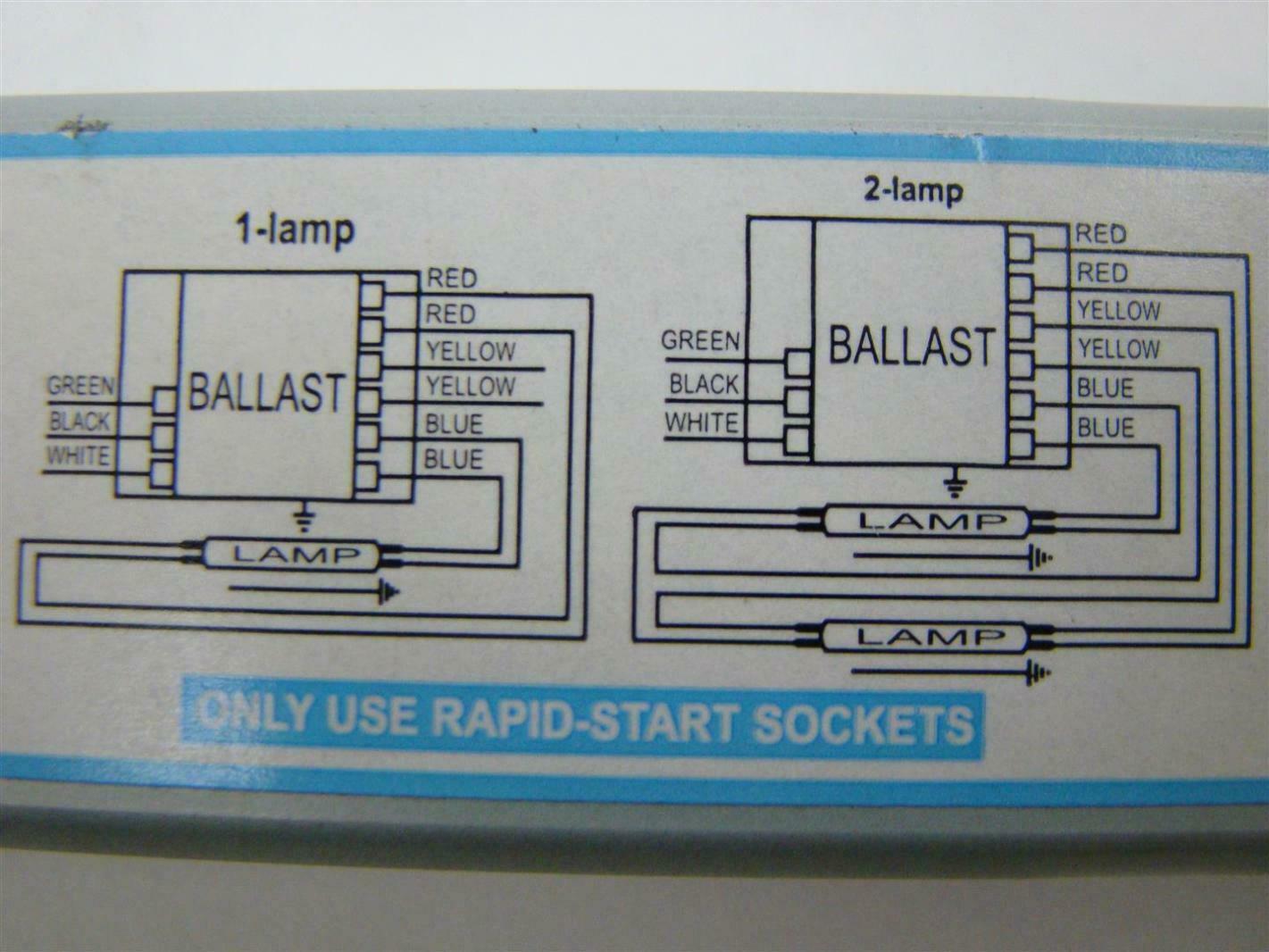 Advance Intellivolt Wiring Diagram Car Diagrams Explained Philips T5 120 277v Ballast Icn 2s54 T Ebay Rh Com Hps S68