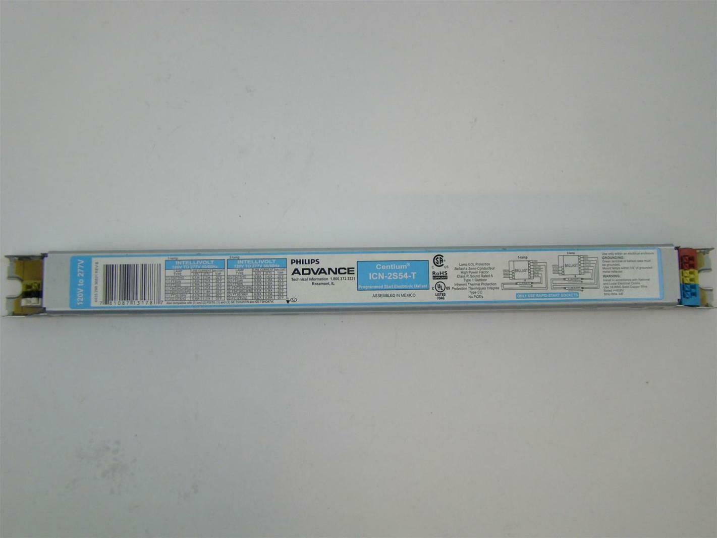 Philips Advance T5 120 277v Intellivolt Ballast Icn 2s54 T Ebay Wiring Diagram 277