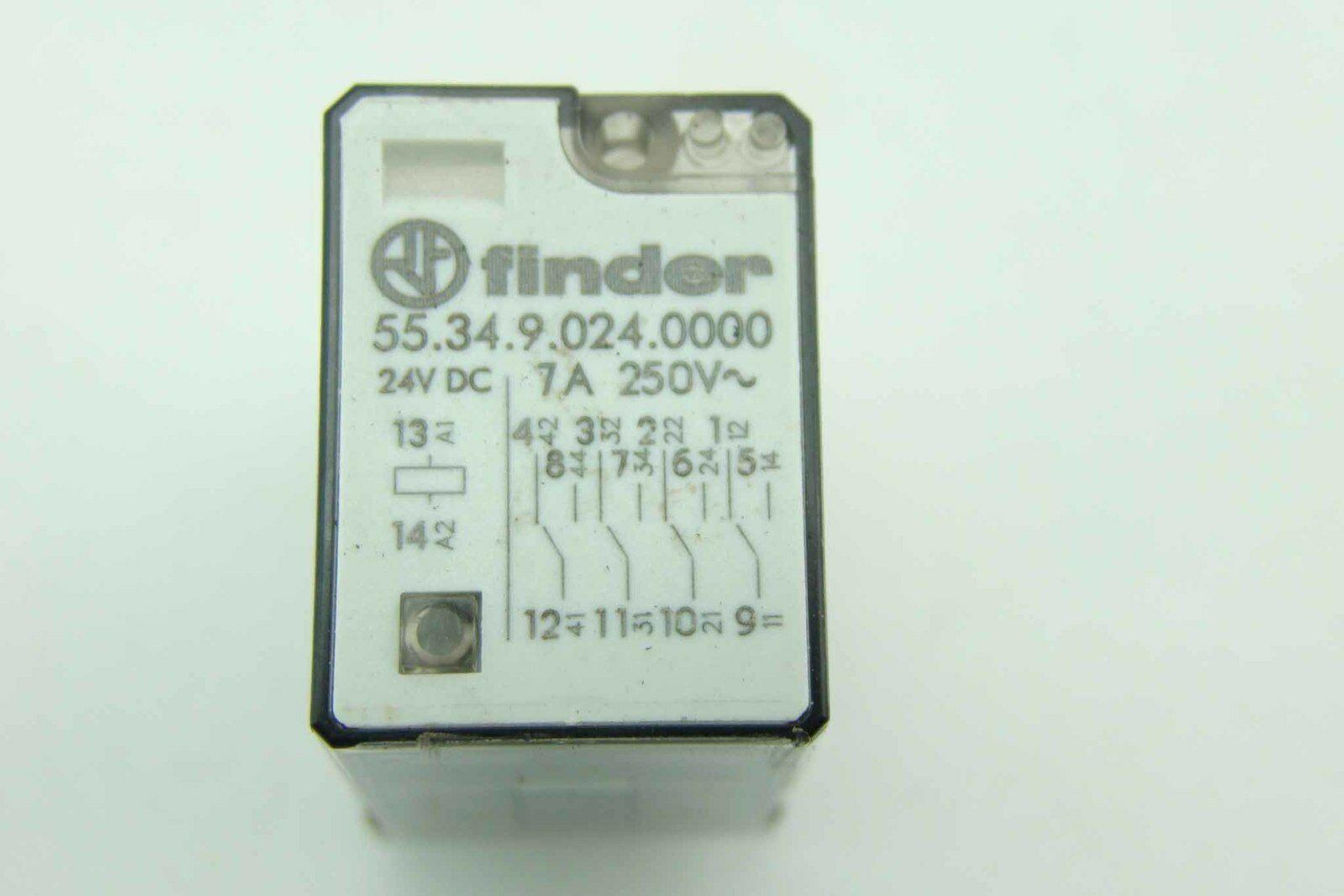 Finder 5534 Power Relay 24v Dc 7a 250v Base 9474 Ebay Terminal
