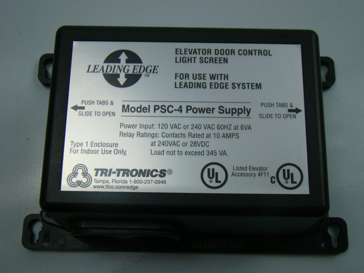 Tri-Tronics Leading Edge Elevator Door Control LIght Screen 120VAC PSC-4 & Tri-Tronics vanguardia pantalla de luz de control de puerta de ...