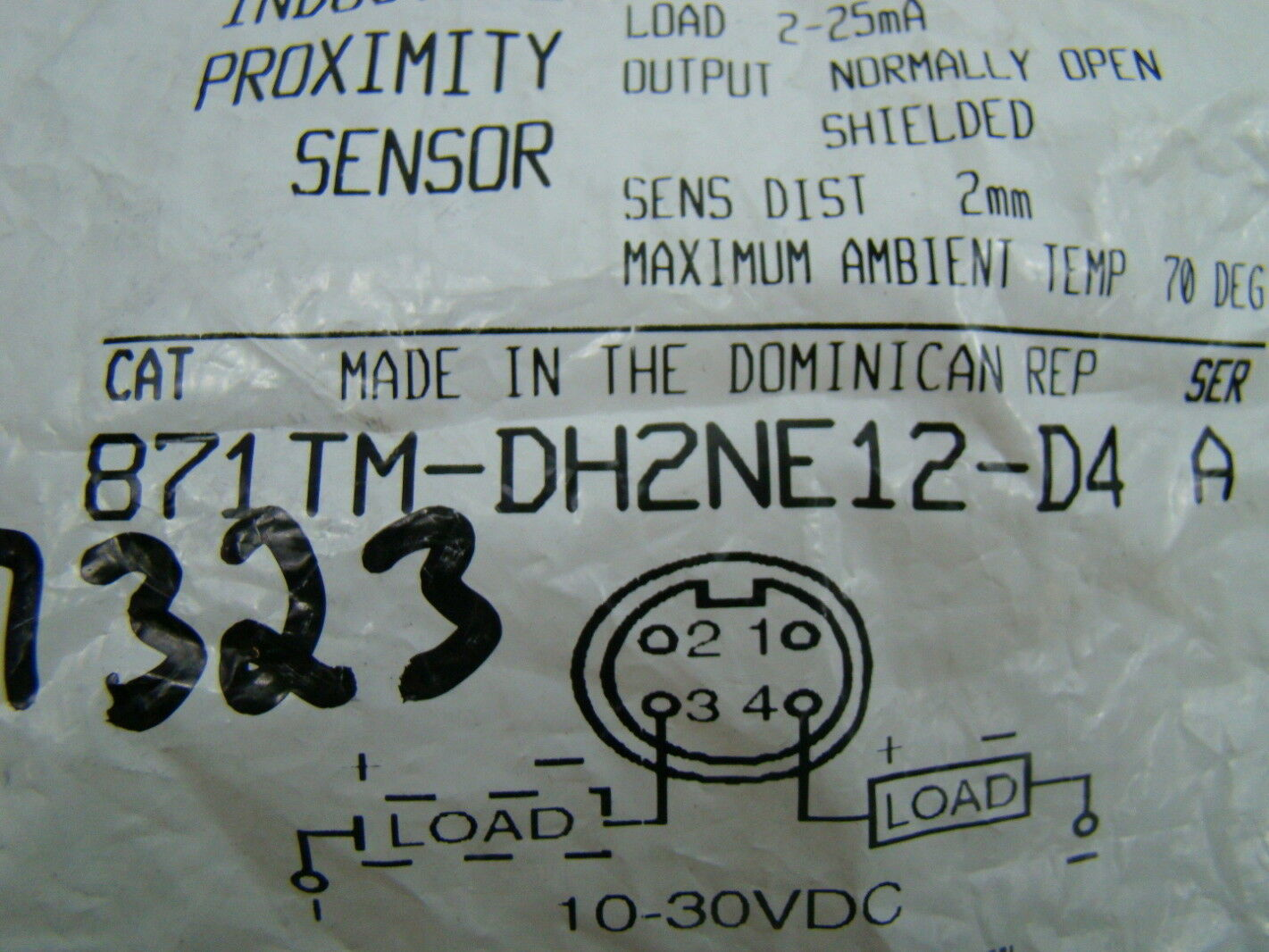 Allen Bradley Inductive Proximity Sensor 10 30vdc 871tm Dh2ne12 D4 Sensors