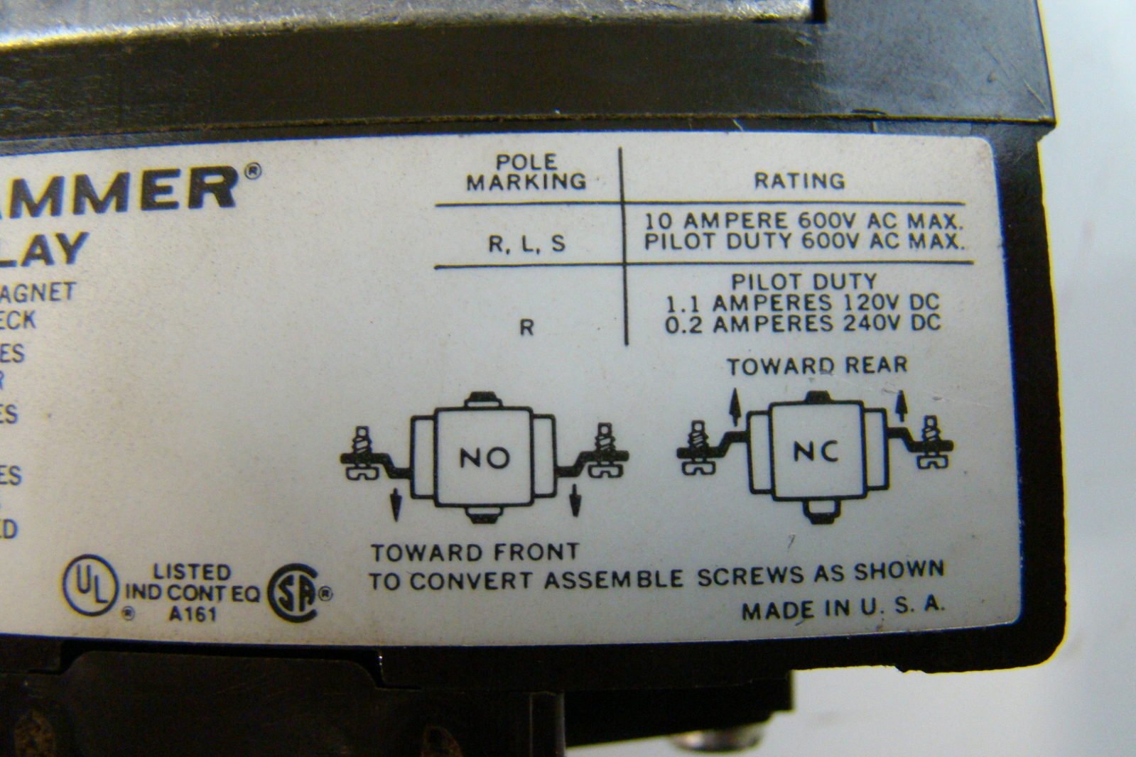 jf03011 cutler hammer 600v type m relay d26mb 11 cutler hammer 600v type m relay d26mb ebay cutler hammer type m relay wiring diagram at bayanpartner.co