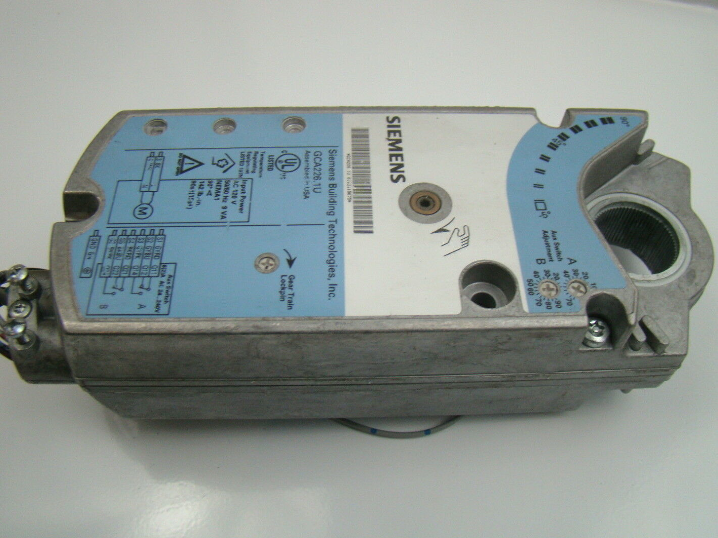 siemens rotarty electronic damper actuator gca226 1u