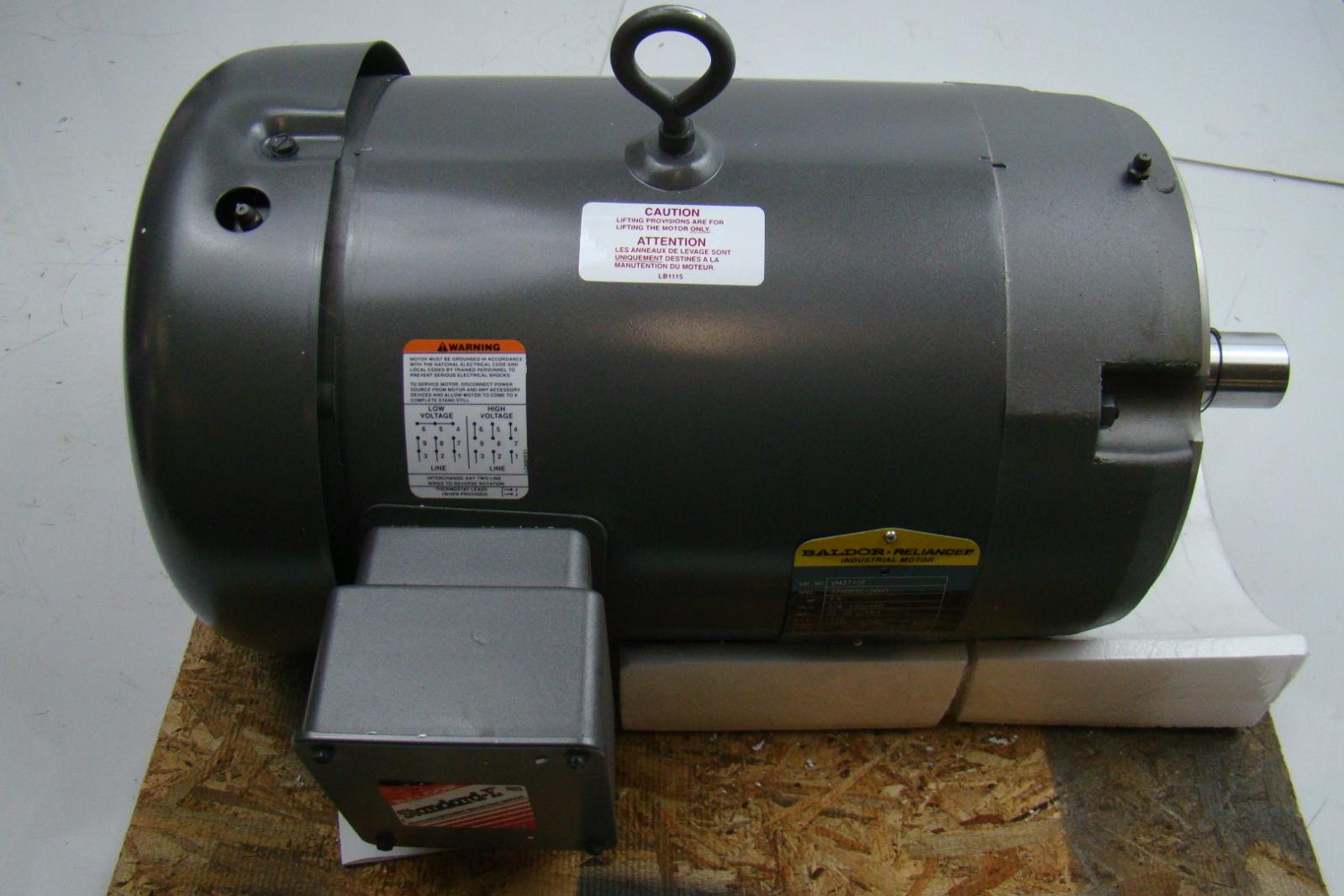 Baldor reliance 7 5hp electric motor 230 460v vm3710t ebay for Motor baldor 20 hp
