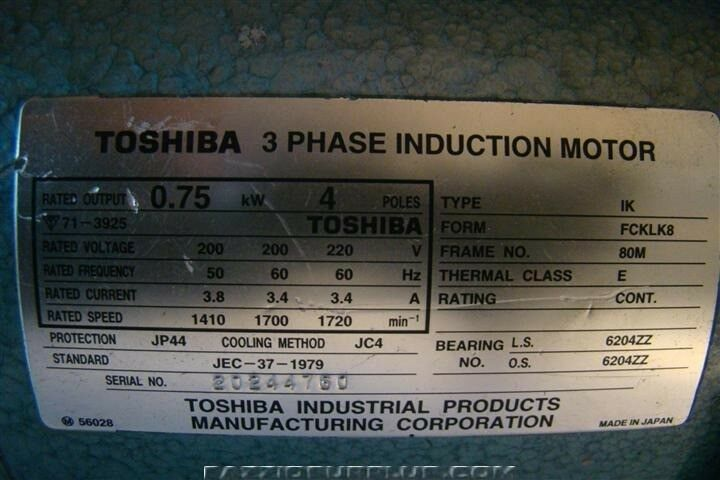 Jf Toshiba Phase Induction Motor Jec And Tokuda Rotary Vacuum Pump Drp on Toshiba Industrial Motors