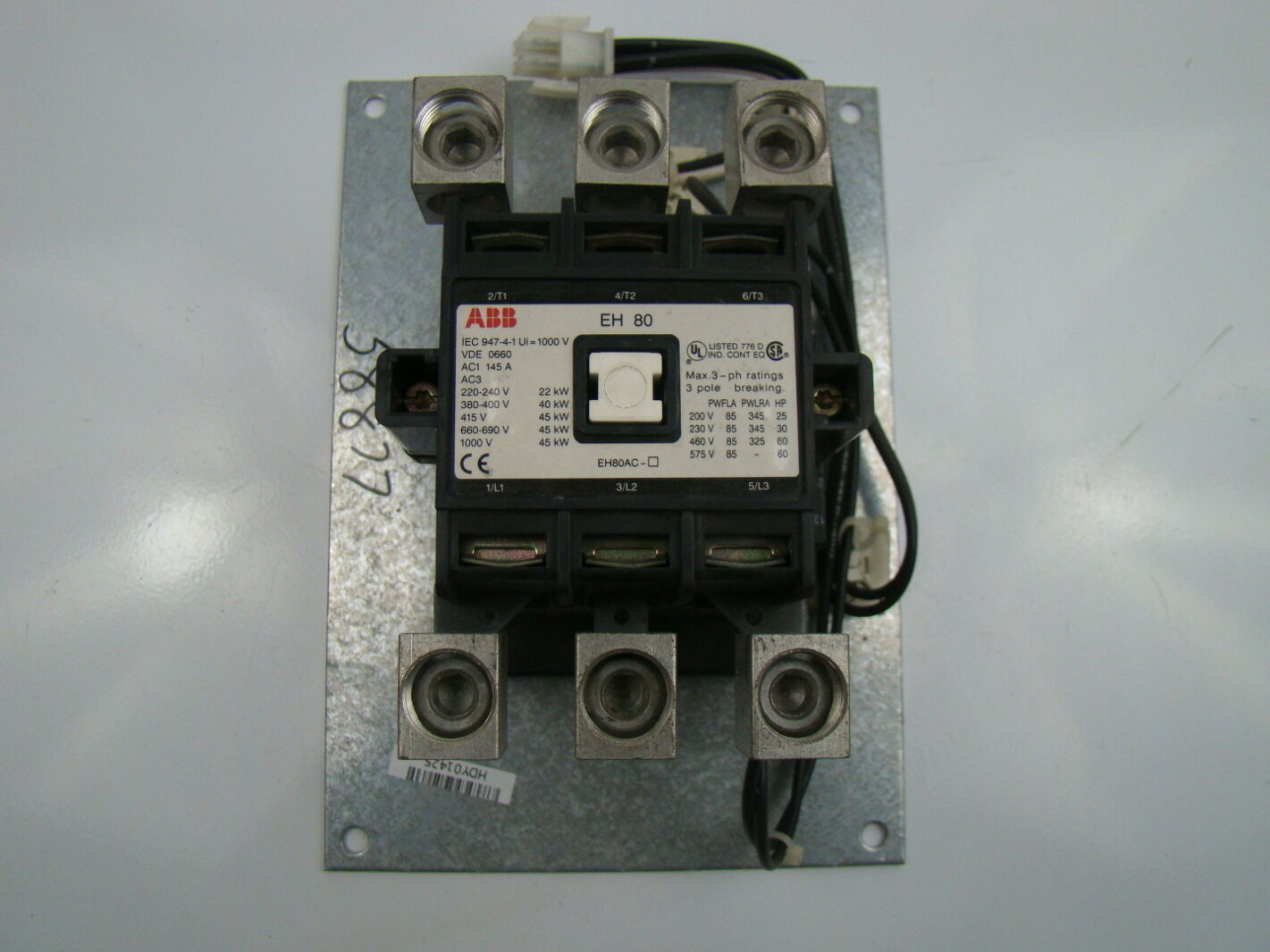 abb 3 phase eh80 contactor iec 947-4-1