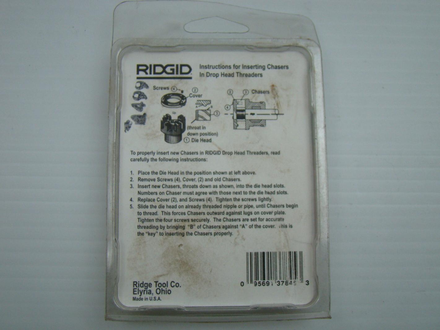 Ridgid 1 2 Alloy Pipe Dies 11 Tpi Rh Ebay 12r Npt Threader 37850