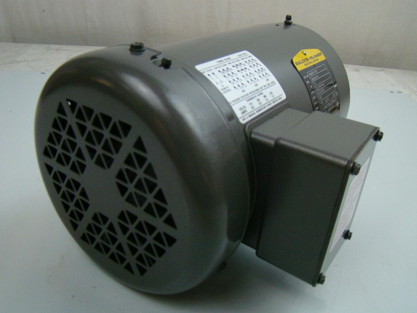 Baldor 1 5 hp 1425 rpm electric motor vm3554t 50 ebay for Circuit breaker for 7 5 hp motor
