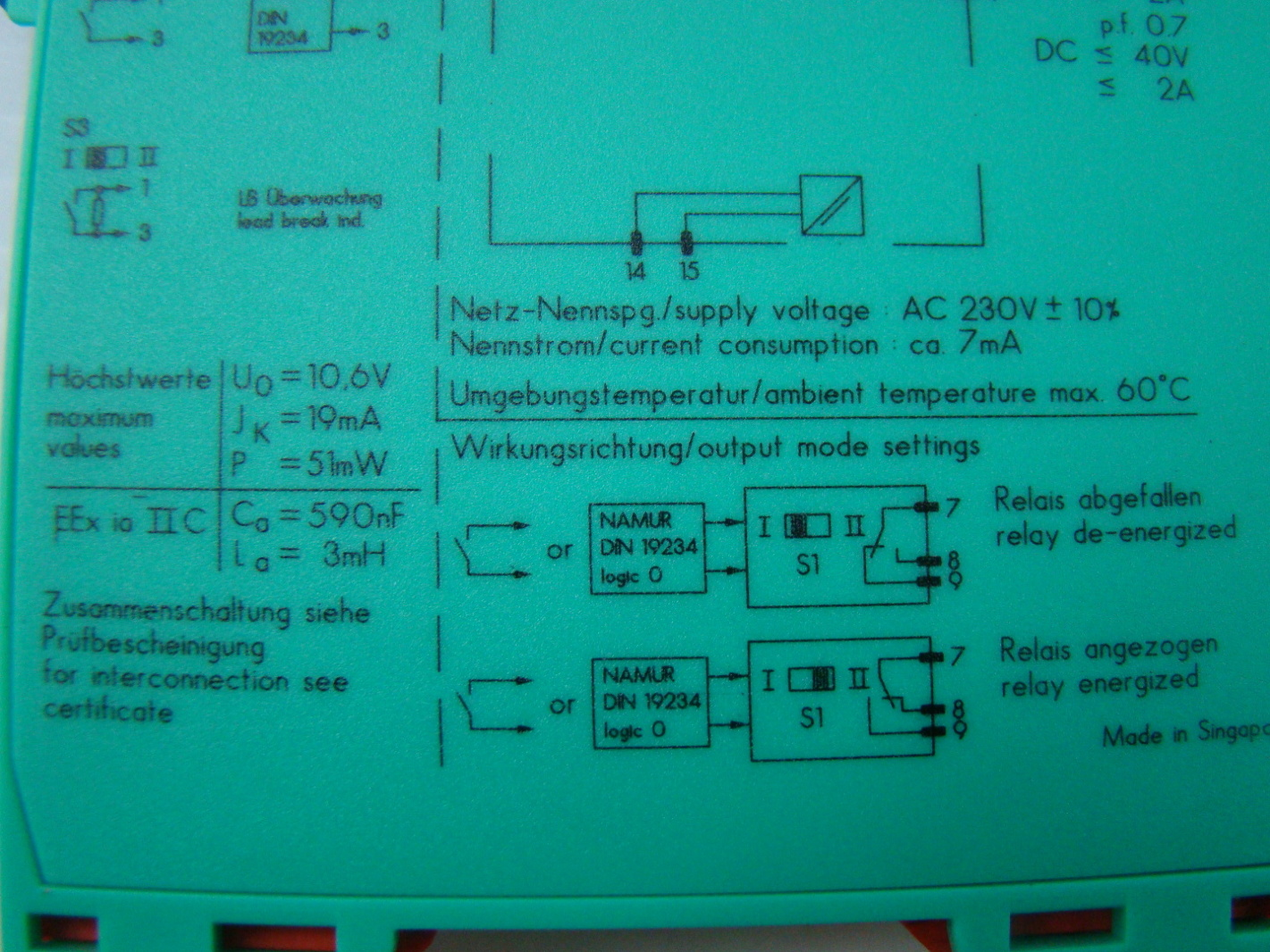 jf07188 pepperl fuchs isolated switch amplifier kfa6 sr2 ex1w 11 pepperl fuchs isolated switch amplifier kfa6 sr2 ex1 w ebay kfd2-sr2-ex1.w wiring diagram at love-stories.co