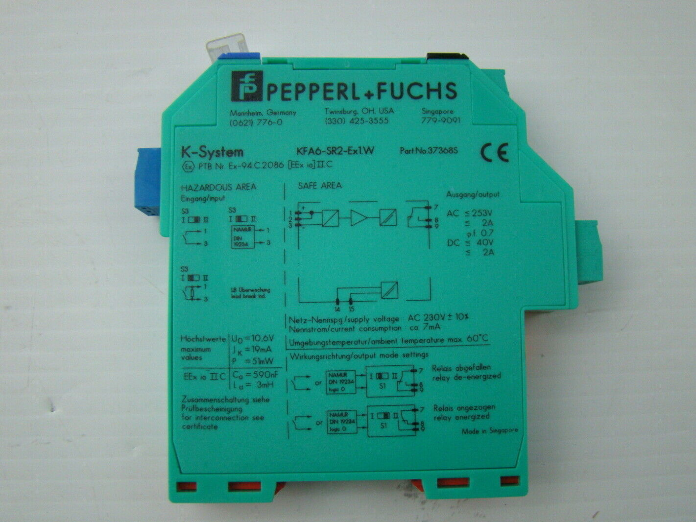 jf07188 pepperl fuchs isolated switch amplifier kfa6 sr2 ex1w pepperl fuchs isolated switch amplifier kfa6 sr2 ex1 w ebay kfd2-sr2-ex1.w wiring diagram at gsmportal.co