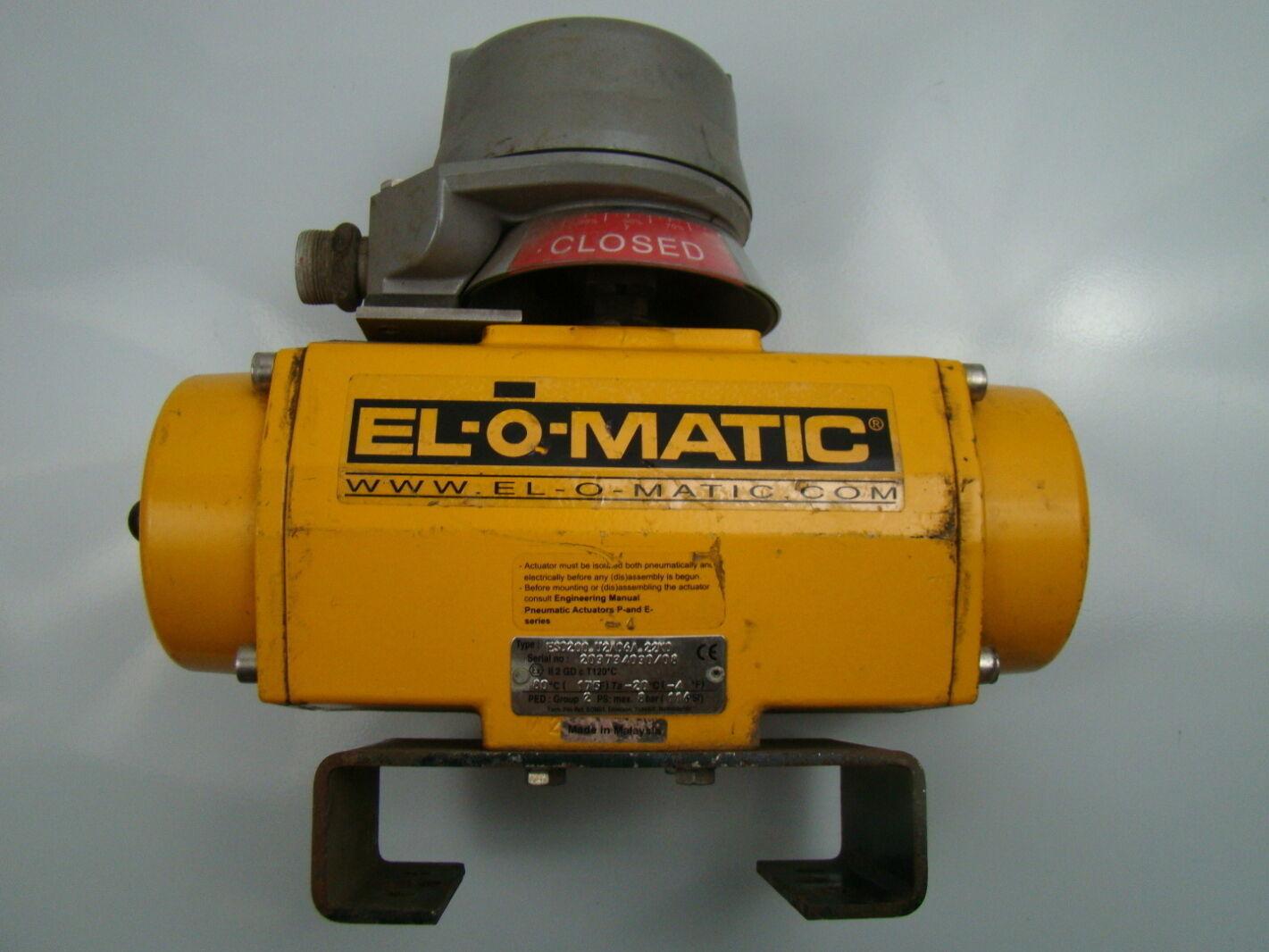 EL-O-MATIC 116 PSI Pneumatic Actuator U2A06A 22N0 ES0200