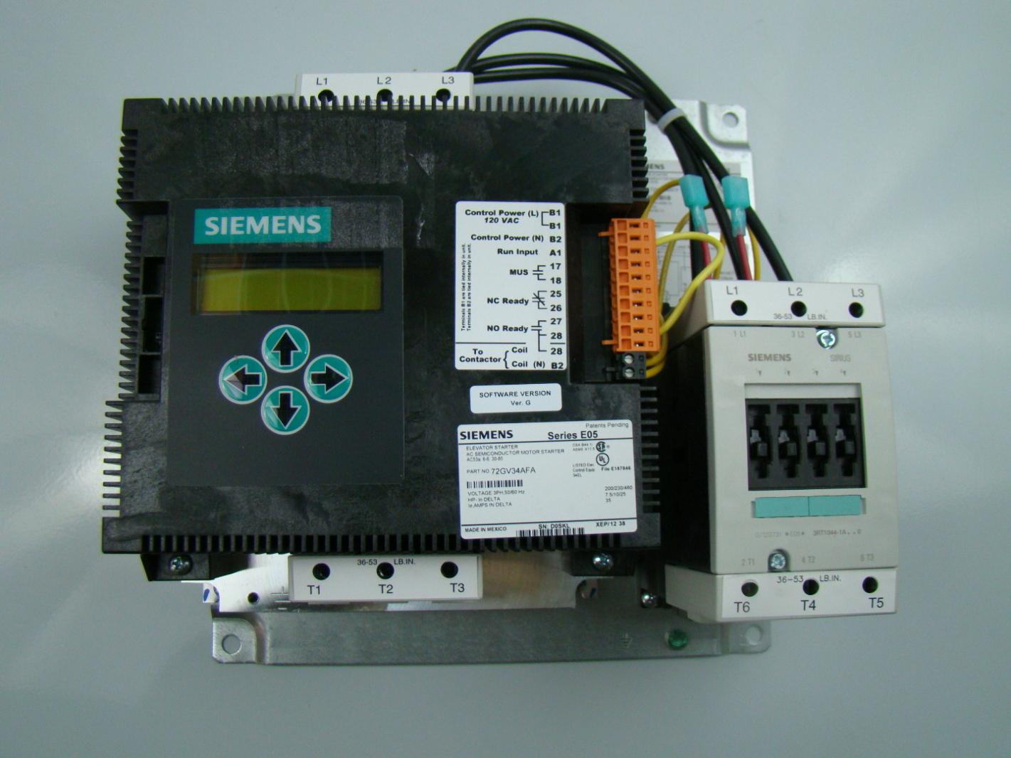 Siemens 3 Phase 200/230/460vac Elevator Motor Starter 72GV34AFP | eBay