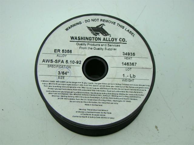 WASHINGTON ALLOY ER5356 ALUMINUM WELDING WIRE 3/64\