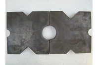 "(PAIR) 12x12 Heavy Duty Arbor Plates, 1.5"" Thick, Hydraulic H-Frame Shop Press, V-Cut"