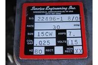Service Engineering Inc. Parts Handling Feeding Systems Feeder 115V 22496 8-00