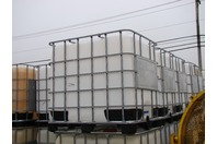 275 Gallon Plastic Tote Tank, Galvanized Steel Frame