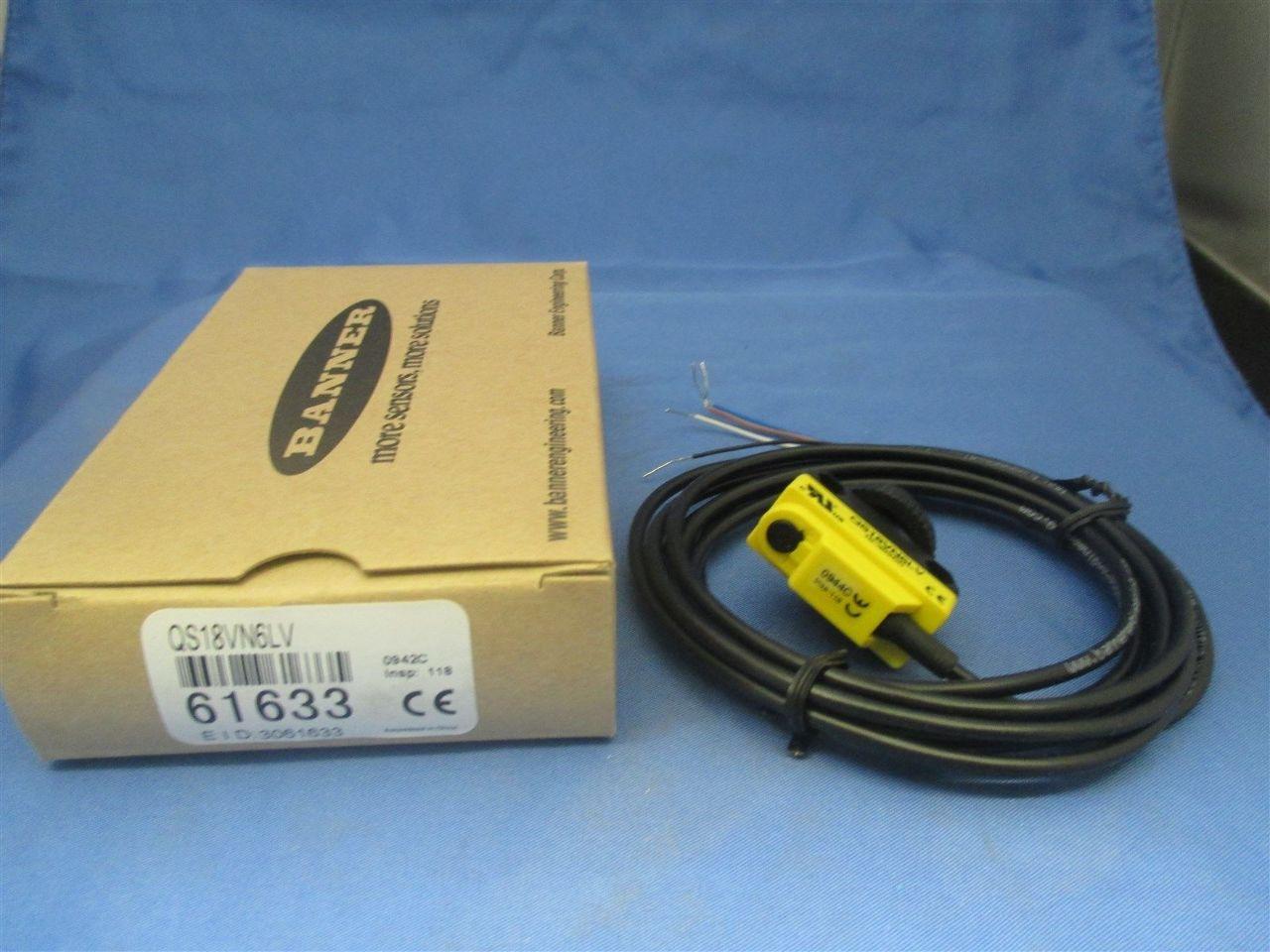 Banner QS18VN6LV 61633 Photoelectric Sensor new | Process Industrial ...