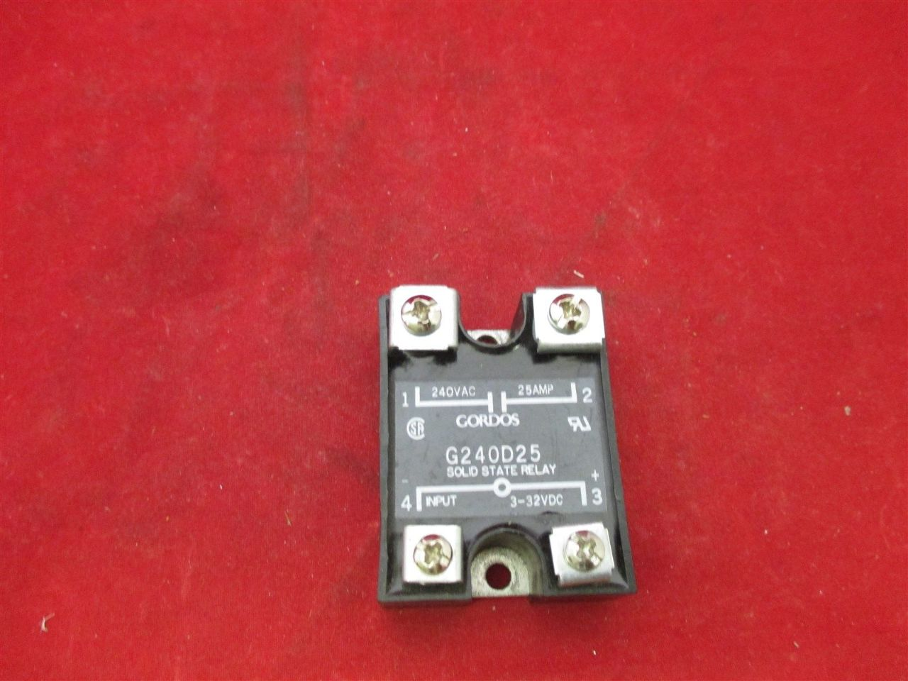 Gordos Solid State Relay G240d25 Process Industrial Surplus 240v Ac