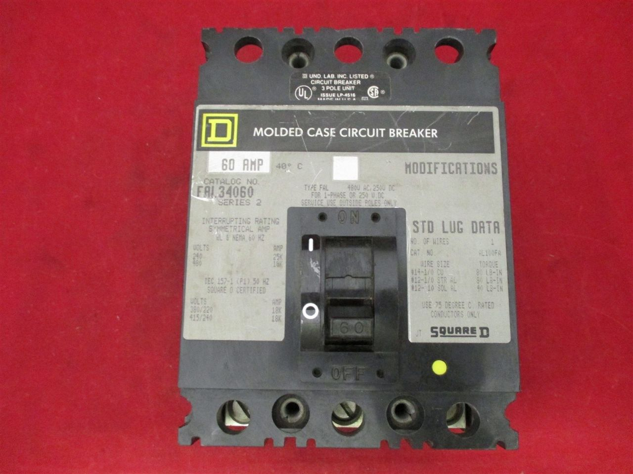 Square D FAL34060 60 amps Circuit Breaker | Process Industrial Surplus