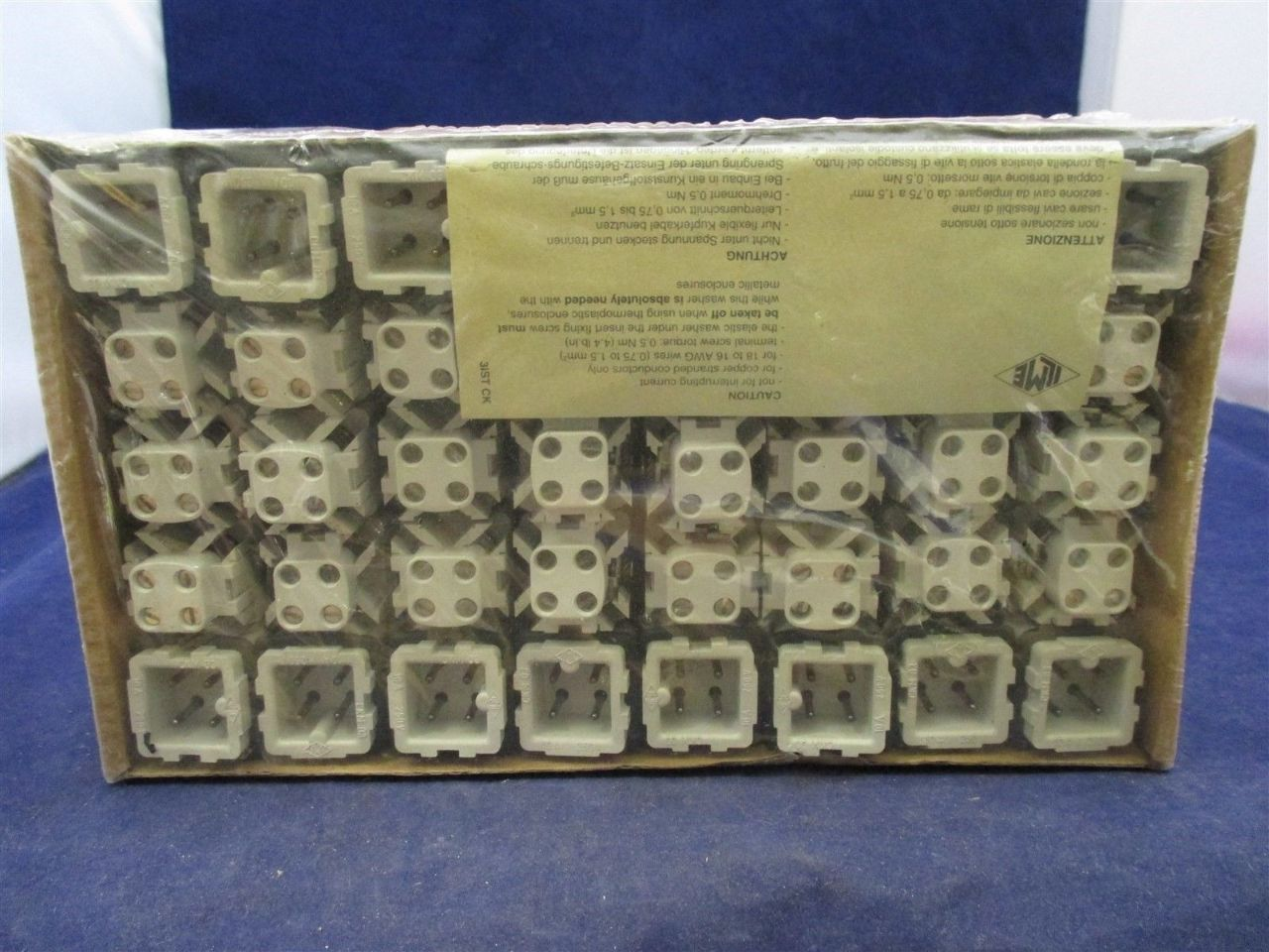 ILME Male Insert CKM 03 & CMF 03 18-14 AWG Lot of 40 pair New ...