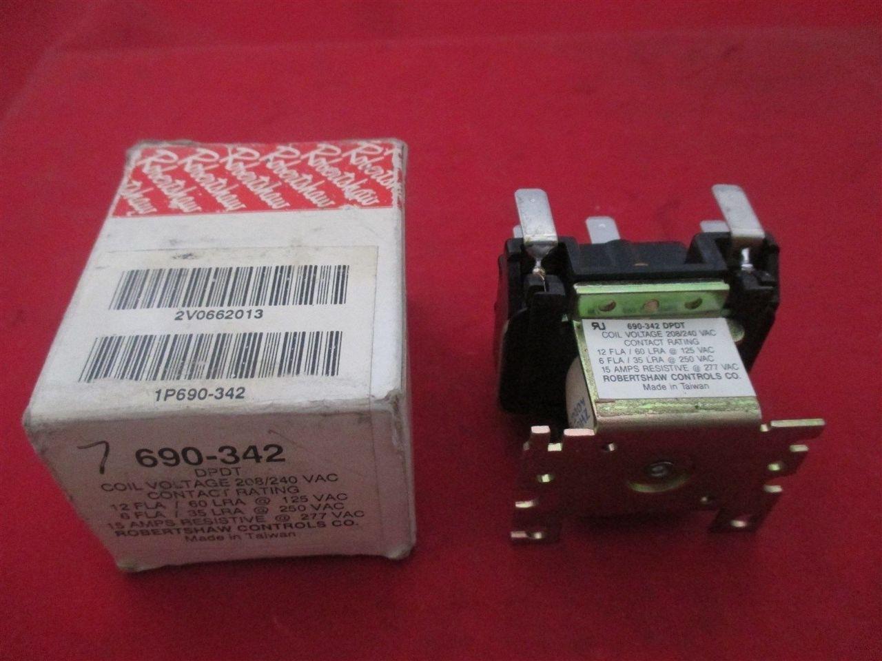 Robertshaw 690 342 Dpdt Power Relay New Process Industrial Surplus Electrical