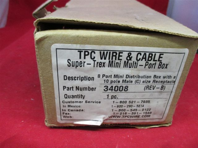 TPC Wire & Cable 34008 Multi-Port Box new | Process Industrial Surplus