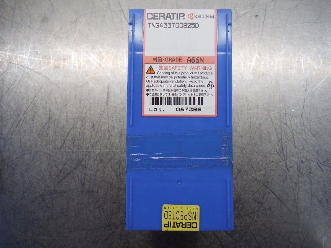 Kyocera Ceratip Ceramic Inserts Qty10 TNG 433 T00825D A66N (LOC2588A)