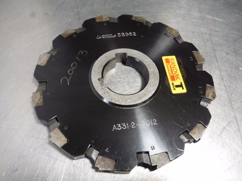 "Sandvik 6.25"" Slot Milling Cutter 1.5"" Arbor A331 2 16012 (LOC2382)"