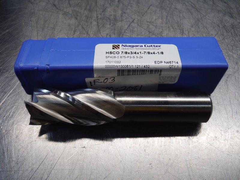 "Niagra Cutter 7/8"" HSS Square Shoulder Endmill N46714 (LOC2568B)"