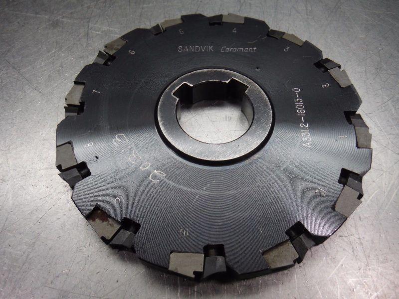 "Sandvik 6.25"" Slot Milling Cutter 1.5"" Arbor A331 2 16013 (LOC2242)"