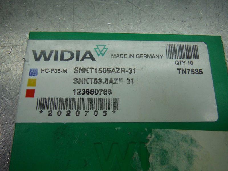 Widia Carbide Inserts Qty10 SNKT 1505 AZR 31 TN7535 (LOC2266)