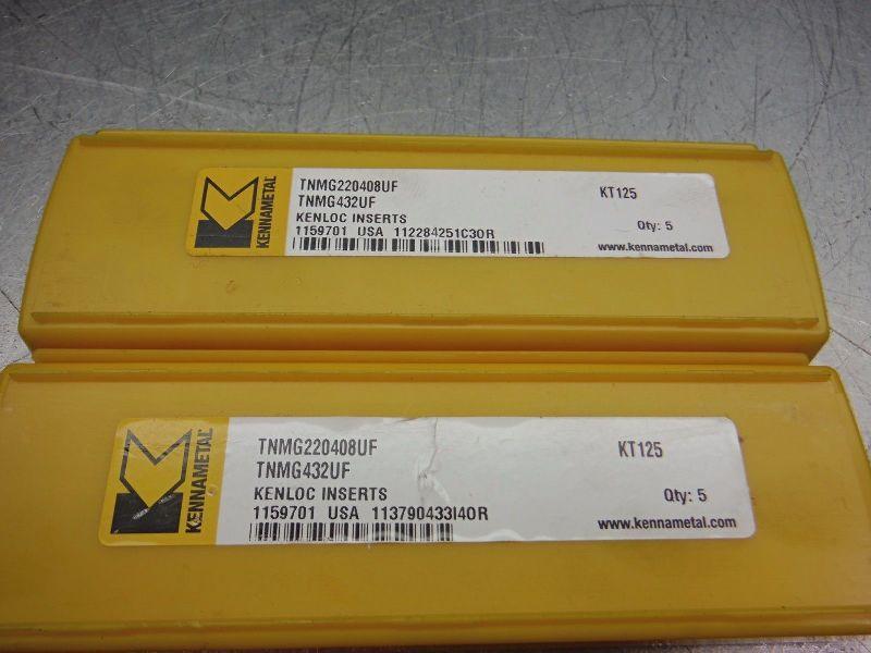 Kennametal Cermet Inserts QTY5 TNMG220408UF / TNMG432UF KT125 (LOC1546)