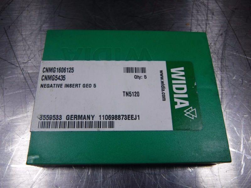 Widia Carbide Inserts (K) CNMG 1606125 / CNMG 5435 TN5120 Qty 5 (LOC635)