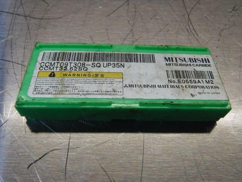 Mitsubishi Cermet Insert CCMT 09 T3 08-SQ / CCMT 32.52SQ UP35N (LOC648B)