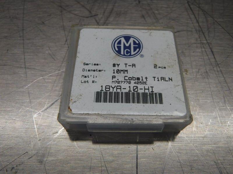 AMEC Series #Y T-A 10mm Spade Drill Inserts 18YA-10-HI QTY2 (LOC650)