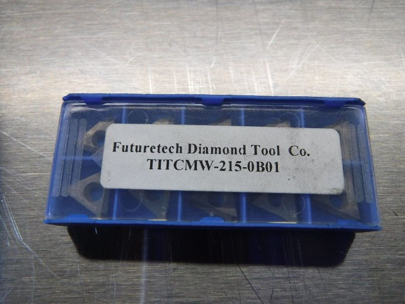 Futuretech PCD Tipped Carbide Inserts TITCMW 215 0B01 (LOC502)