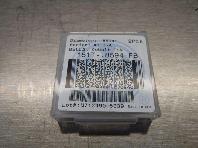 """AMEC Series #1 T-A .8594"""" Spade Drill Inserts Qty2 151T-.8594-FB (LOC504)"""