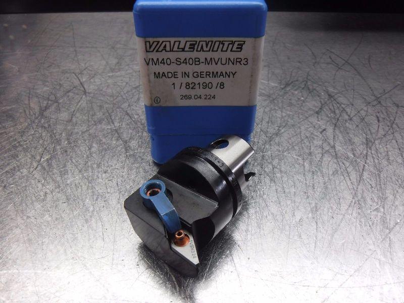 Valenite VM / KM 40 Indexable Turning Head VM40-S40B-MVUNR3 (LOC462)
