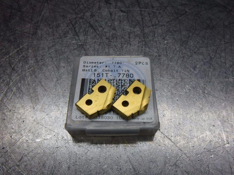 """AMEC Series #1 TA .7780"""" Spade Drill Inserts Qty2 151T-.7780 (LOC274)"""