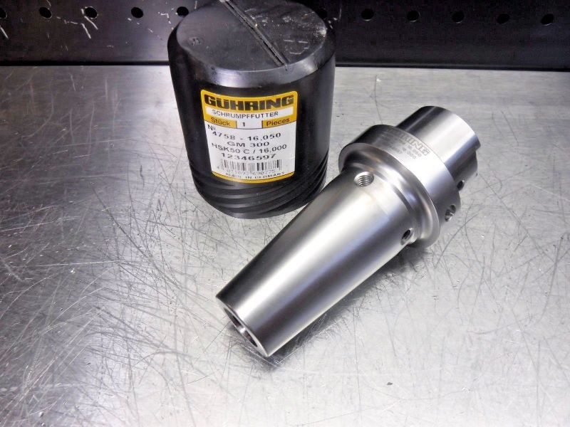 GUHRING HSK50C 16mm GM300 Hydraulic Endmill Holder 4758 HSK50 C (LOC186)