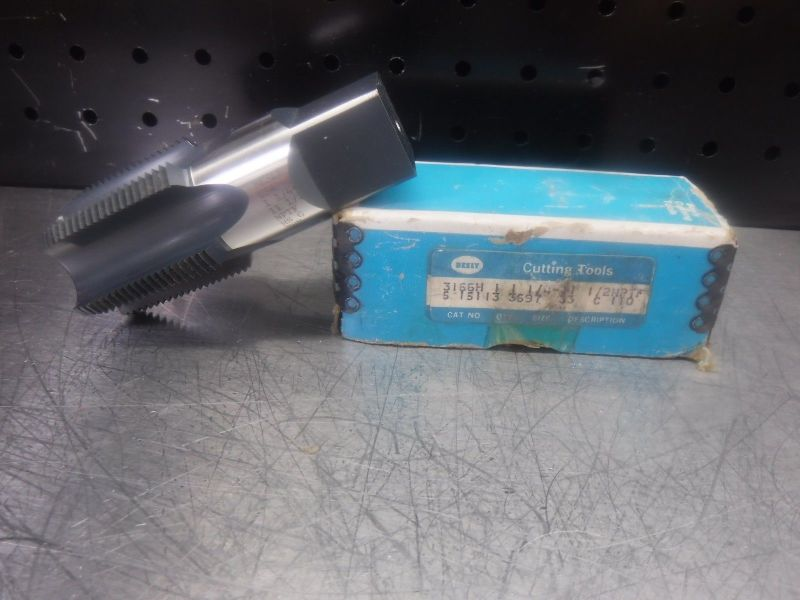 Besly Cutting Tools 1.25-11.5 NPTF 5 Flute Tap 3166H (LOC1219)