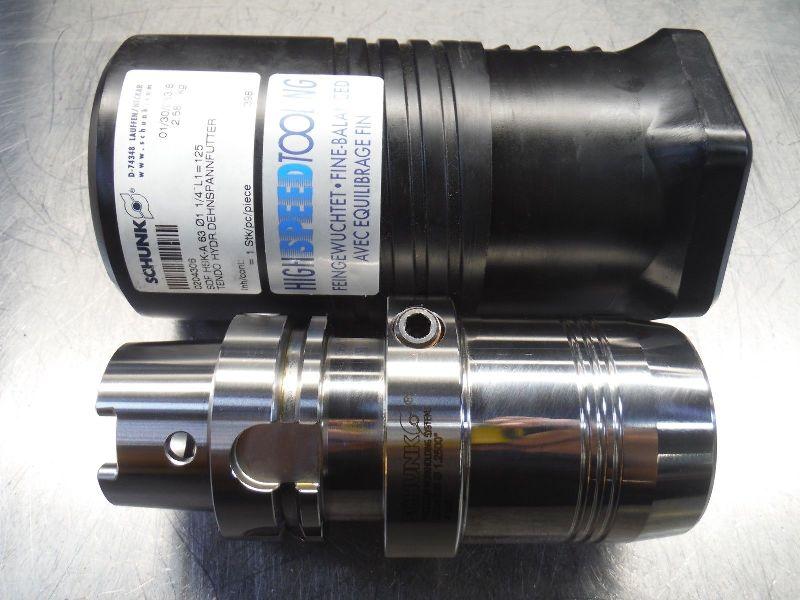 """Schunk HSK63A 1.25"""" Coolant Thru Hydraulic Endmill Holder 0204306 (LOC2528B)"""