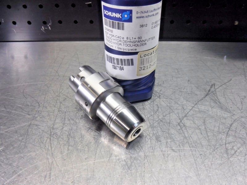 Schunk HSK 40 C 8mm Hydraulic Endmill Holder 204002 (LOC2710A)